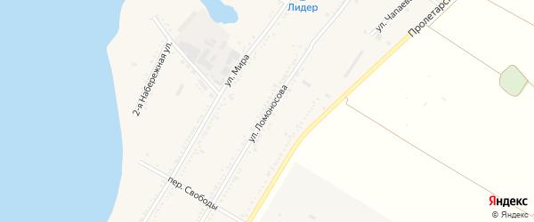 Улица Ломоносова на карте Красногвардейского села с номерами домов
