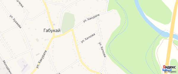 Улица Хаткова на карте аула Габукая с номерами домов