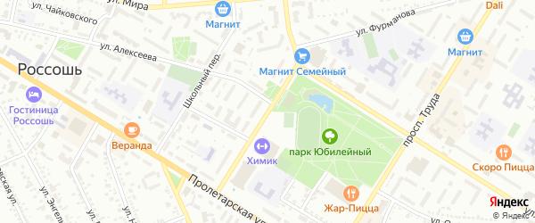 Улица Белинского на карте Россоши с номерами домов