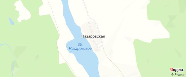 Карта Назаровской деревни в Архангельской области с улицами и номерами домов