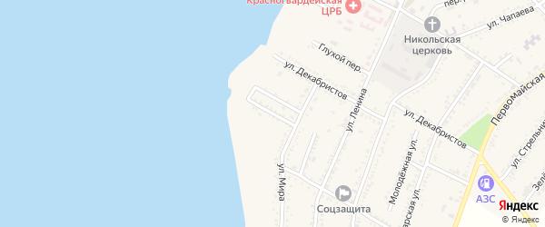 Морской переулок на карте Красногвардейского села с номерами домов