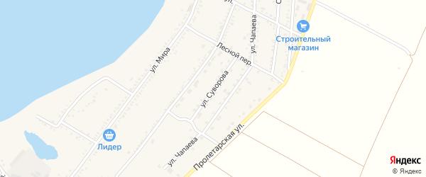 Улица Суворова на карте Красногвардейского села с номерами домов