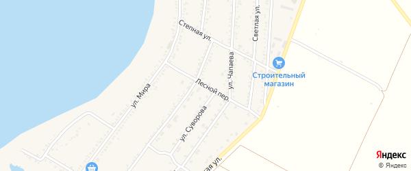 Лесной переулок на карте Красногвардейского села с номерами домов