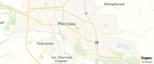 Карта Россоши с районами, улицами и номерами домов