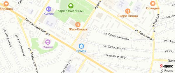 Переулок Чернышевского на карте Россоши с номерами домов
