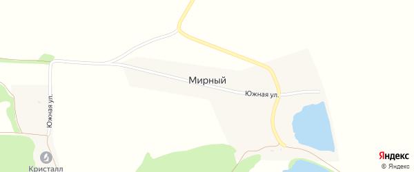 Дорога А/Д Подъезд к п. Мирный на карте Мирного поселка с номерами домов
