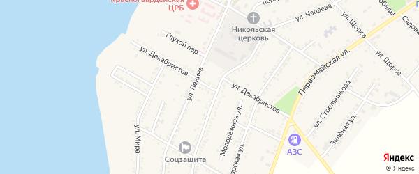 Улица Декабристов на карте Красногвардейского села с номерами домов