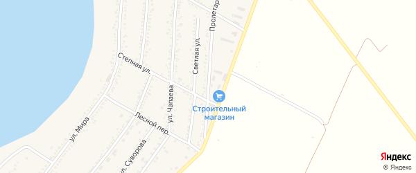 Пролетарская улица на карте Красногвардейского села с номерами домов