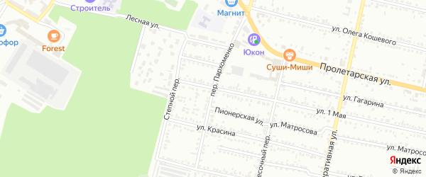 Переулок Пархоменко на карте Россоши с номерами домов