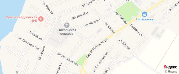 Улица Сухомлинского на карте Красногвардейского села с номерами домов