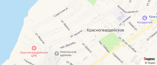 Улица Ленина на карте Красногвардейского села с номерами домов