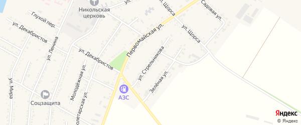 Улица Стрельникова на карте Красногвардейского села с номерами домов