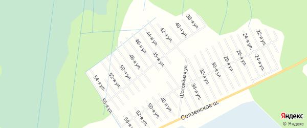 СНТ ТАЙГА на карте Северодвинска с номерами домов