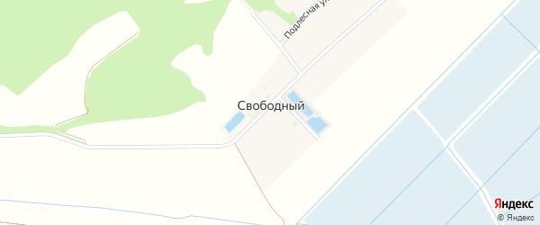 Зеленая улица на карте Свободного поселка с номерами домов