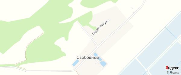 Улица Комарова на карте Свободного поселка с номерами домов
