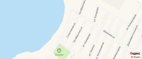 Спортивная улица на карте Красногвардейского села с номерами домов
