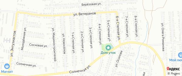Степная 3-я улица на карте Лисок с номерами домов