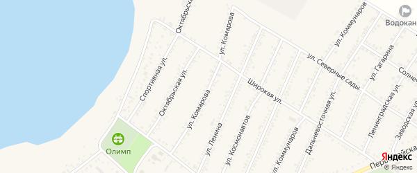 Улица Комарова на карте Красногвардейского села с номерами домов