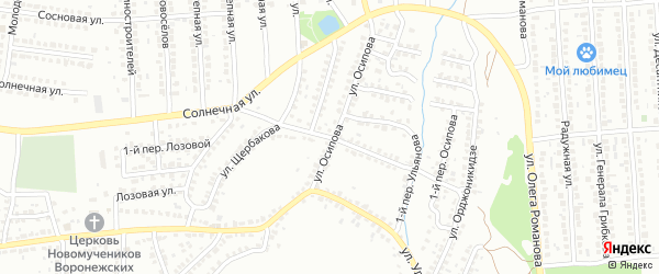 Улица Щербакова на карте Лисок с номерами домов