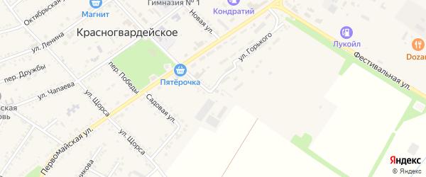 Улица Горького на карте Красногвардейского села с номерами домов