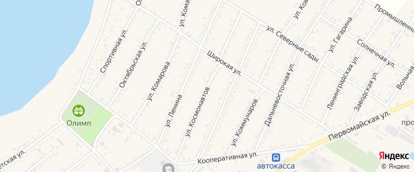 Улица Космонавтов на карте Красногвардейского села с номерами домов