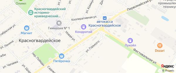 Первомайская улица на карте Красногвардейского села с номерами домов