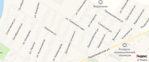 Дальневосточная улица на карте Красногвардейского села с номерами домов
