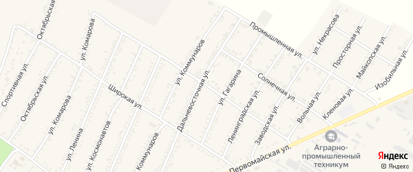 Улица Северные сады на карте Красногвардейского села с номерами домов