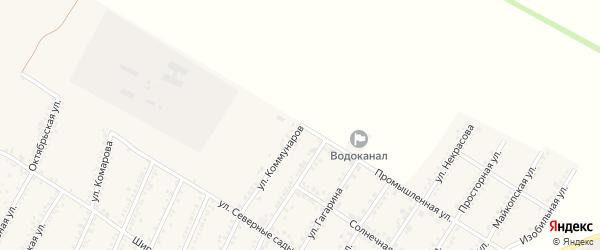 Промышленная улица на карте Красногвардейского села с номерами домов