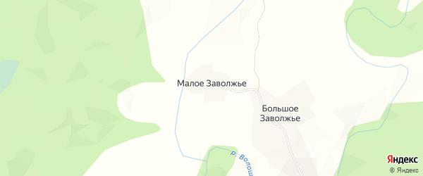 Карта деревни Малого в Архангельской области с улицами и номерами домов