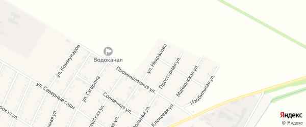 Улица Некрасова на карте Красногвардейского села с номерами домов