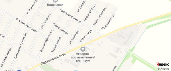 Кленовая улица на карте Красногвардейского села с номерами домов