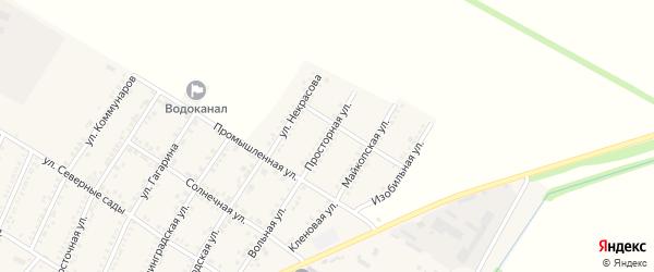 Просторная улица на карте Красногвардейского села с номерами домов