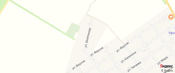 Улица Шовгенова на карте Преображенского села с номерами домов