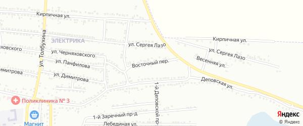 Восточный переулок на карте Россоши с номерами домов