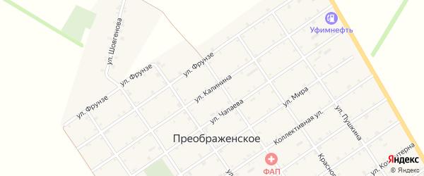 Улица Калинина на карте Преображенского села с номерами домов