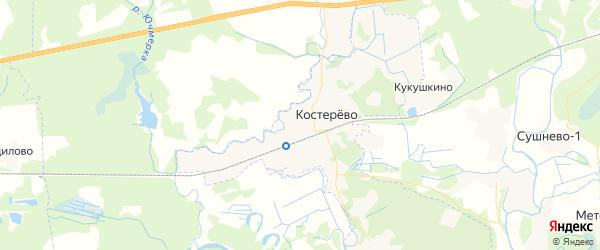 Карта Костерево с районами, улицами и номерами домов