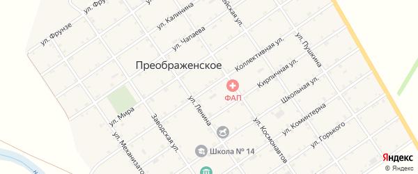 Коллективная улица на карте Преображенского села с номерами домов
