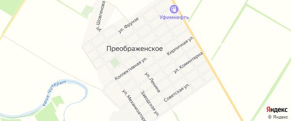 Карта Преображенского села в Адыгее с улицами и номерами домов