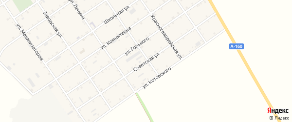 Советская улица на карте Преображенского села с номерами домов