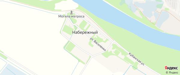 Улица Василенко на карте Набережного поселка с номерами домов