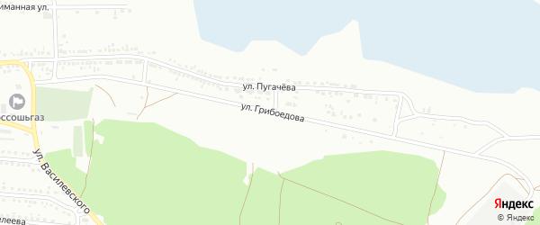 Улица Грибоедова на карте Россоши с номерами домов