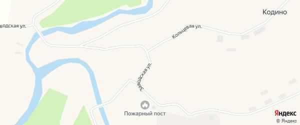 Заводская улица на карте поселка Кодино с номерами домов