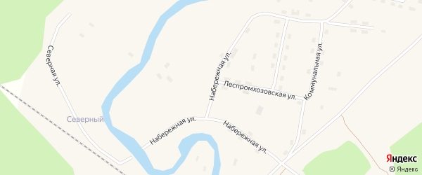 Набережная улица на карте поселка Кодино с номерами домов