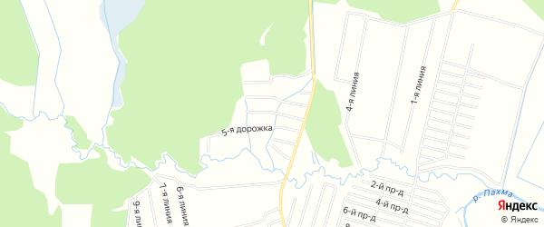 Карта садового некоммерческого товарищества Космоса города Майкопа в Адыгее с улицами и номерами домов