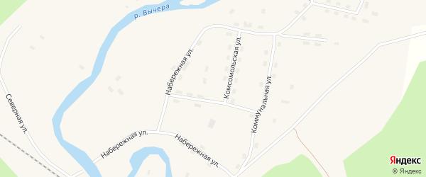 Южная улица на карте поселка Кодино с номерами домов