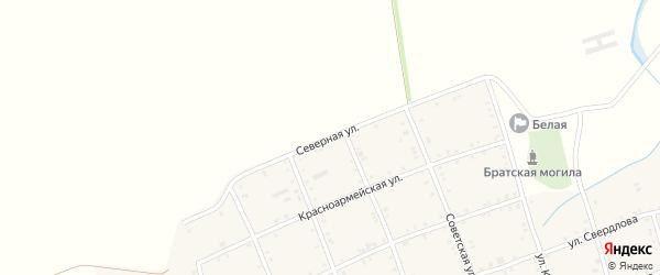 Северная улица на карте Белого села с номерами домов