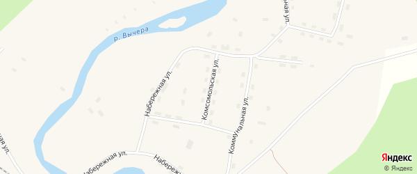 Комсомольская улица на карте поселка Кодино с номерами домов