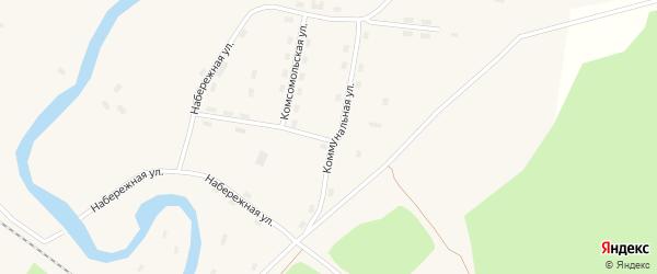 Коммунальная улица на карте поселка Кодино с номерами домов
