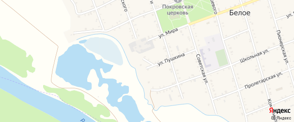 Переулок Суворова на карте Белого села с номерами домов